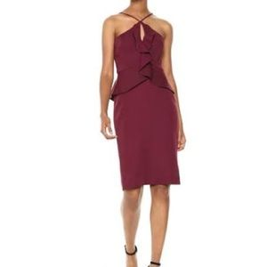 BCBGMaxAzria Peplum Ruffle dress